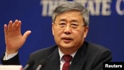中國銀行保險監督管理委員會主席郭樹清(2017年3月2日資料照片)