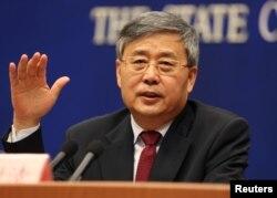 中国银行保险监督管理委员会主席郭树清(2017年3月资料照片)