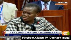Les premières images de Citizen TV après la reprise de la diffusion au Kenya, 8 février 2018. (Facebook/Citizen TV)