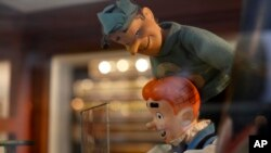 Dolls of comics characters Archie and Jughead are displayed at the Mexico Antique Toy Museum in Mexico City, Jan. 6, 2017.