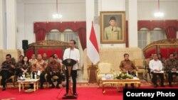 Presiden Joko Widodo memimpin Rapat Kabinet Paripurna di Istana Negara Jakarta (9/9). (Foto: Biro Pers Kepresidenan)