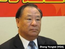 三民主义统一中国大同盟理事长葛永光(美国之音张永泰拍摄)