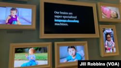 Babies learning language gallery at Planet Word, Washington DC