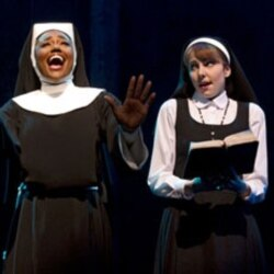 """Patina Miller and Marla Mindelle in """"Sister Act"""""""