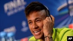 L'attaquant brésilien du FC Barcelone Neymar.