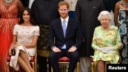 Queen, Harry and Meghan