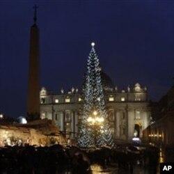 聖伯多祿廣場上的聖誕樹