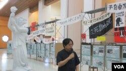 台湾纪念六四特展 吸引大陆游客驻足阅读