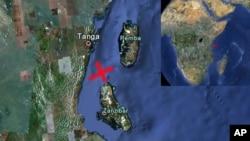 翻船事故發生地點。