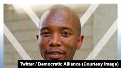 Mmusi Maimane a été réélu la tête du principal parti d'opposition sud-africain, l'Alliance démocratique (AD), au dernier jour d'un congrès à Pretoria, 8 avril 2018. (Twitter/Democratic Alliance)