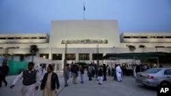 پاکستان کی پارلیمنٹ کی عمارت، فائل فوٹو