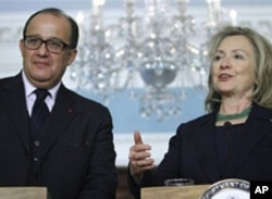 Secretary of State Hillary Clinton speaks at the State Department in Washington, March 23, 2011, during her meeting with Morocco's Foreign Minister Taieb Fassi Fihri