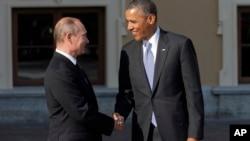 美國總統奧巴馬和俄羅斯總統普京在聖彼得堡舉行的G20峰會上碰面。