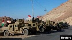 Xe quân sự của lực lượng an ninh người Kurd tại núi Sinjar, Iraq, ngày 21/12/2014.