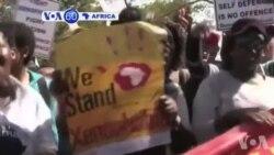 VOA60 AFIRKA: Afirka Ta Kudu Duban Mutane Na Zanga Zanga , Afrilu 23, 2015