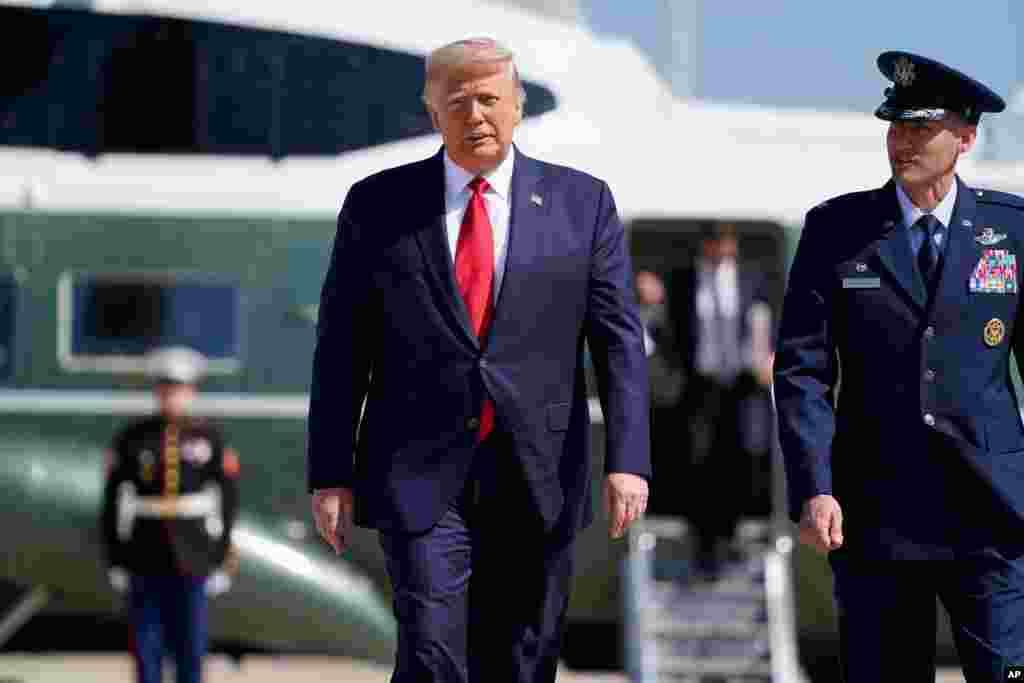 پرزیدنت ترامپ روز دوشنبه از واشنگتن به ایالتهای مینهسوتا و ویسکانسین سفر کرد.
