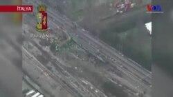 İtalya'da Tren Raydan Çıktı