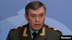 발레리 게라시모프 러시아 총참모장. (자료사진)
