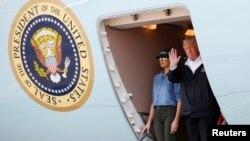 川普總統抵達德州