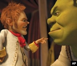 Now the King of Far Far Away, Rumpelstiltskin lays down the law of the land for Shrek