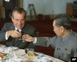 尼克松与周恩来1972年2月25日