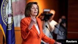 La Présidente de la Chambre des représentants, Nancy Pelosi, à Capitol Hill à Washington, aux États-Unis, le 31 octobre 2019. REUTERS / Joshua Roberts