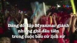 Đảng đối lập Myanmar giành những ghế đầu tiên trong cuộc bầu cử lịch sử