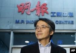 Ông Lưu Tiến Đồ bên ngoài văn phòng của ông ở Hong Kong, 13/1/2014