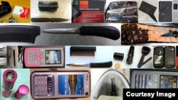 The TSA discovered a lot of illegal items.