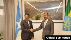 Madaxweynaha Somalia Maxamed Cabdulahi Farmajo iyo RW Itoobiya Abiy Axmed