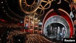 L'animateur Jimmy Kimmel lors de la 89e cérémonie des Oscars au Dolby Theatre à Los Angeles, dimanche 26 février 2017