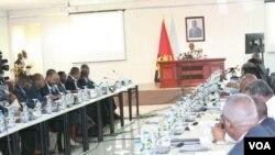 Angola Presidente Eduardo dos Santos em Laúca Kwanza Norte