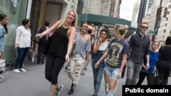 Walking in New York City