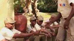 A brigada canina do Botswana
