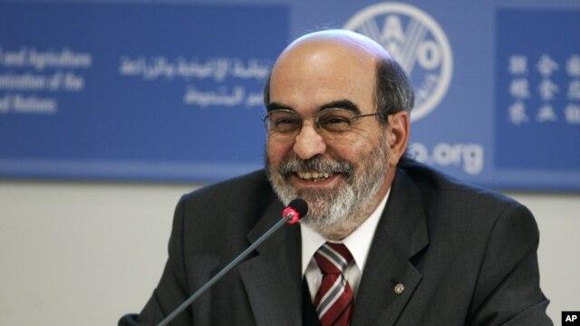 Mkurugenzi wa shirika la chakula duniani  (FAO)  Jose Graziano da Silva wakati wa kikao kwenye makao makuu ya FAO Italy.