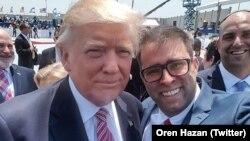 Le députe israélien Oren Hazan a pris un selfi avec le président américain Donald Trump, le 22 mai 2017.