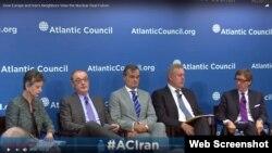 سفیران بریتانیا، فرانسه، آلمان و نماینده اتحادیه اروپا در نشست شورای آتلانتیک در شهر واشنگتن - ۳ مهر ۱۳۹۶