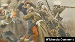Russian Soldiers in Crimean War