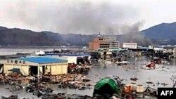Khu vực Kesennuma thuộc quận Miyagi ở Nhật bị tàn phá sau trận động đất và sóng thần