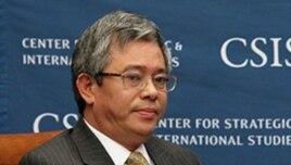 Đại sứ Việt Nam tại Hoa Kỳ Phạm Quang Vinh phát biểu tại Trung tâm Nghiên cứu Chiến lược và Quốc tế ở Washington (Ảnh: CSIS).