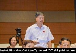 Đại biểu Quốc hội Nguyễn Sỹ Cương tại một phiên họp QH
