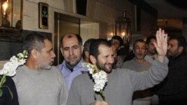 Սիրիայի ապստամբների կողմից գերեվարված և ազատ արձակված իրանցիները՝ Դամասկոսում, 2013 թ. հունվարի 9