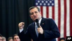 Kandidat calon presiden Partai Republik, Senator Ted Cruz, berbicara dalam kampanye di Scotia, New York (7/4). (AP/Mike Groll)