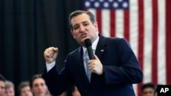 共和黨參選人泰德克魯茲4月7日在紐約競選。