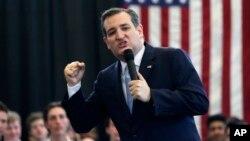 Kandidat Capres partai Republik, Senator Ted Cruz melakukan kampanye di Scotia, negara bagian New York (7/4).