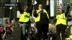 Başkanlar Günü'nde 'Benim Başkanım Değil' Protestoları