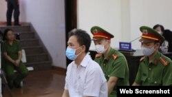 Ông Quách Duy tại phiên tòa ngày 15/4/2021. Photo Thanh Nien