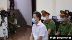 Ông Quách Duy tại phiên tòa ngày 15/4/2021. Photo Thanh Nien.