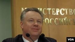 俄羅斯外交部新聞發言人盧卡舍維奇(資料圖片)