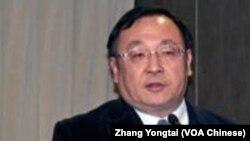 淡江大學美國研究所教授 陳一新(美國之音鍾辰芳拍攝)